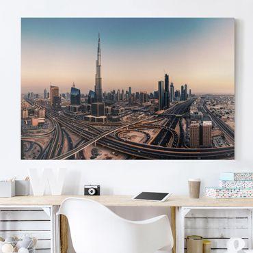 Leinwandbild - Abendstimmung in Dubai - Querformat 2:3
