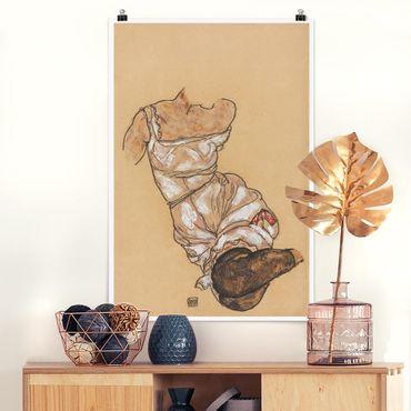 Poster - Egon Schiele - Weiblicher Torso in Unterwäsche - Hochformat 3:2