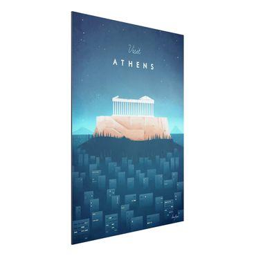 Aluminium Print - Reiseposter - Athen - Hochformat 4:3