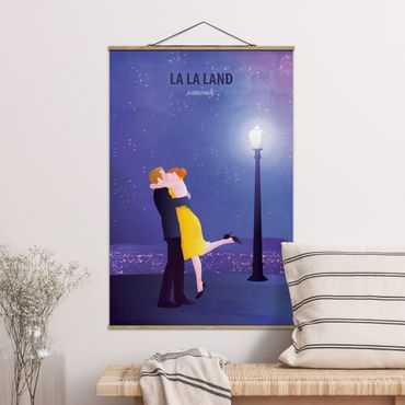 Stoffbild mit Posterleisten - Filmposter La La Land II - Hochformat 3:2