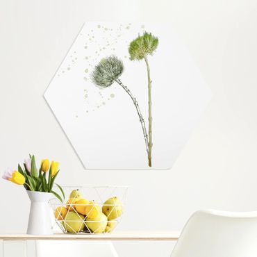 Hexagon Bild Forex - Botanisches Aquarell
