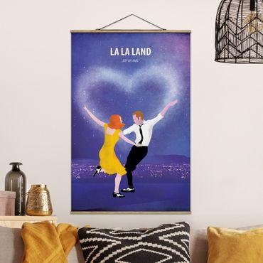 Stoffbild mit Posterleisten - Filmposter La La Land - Hochformat 3:2