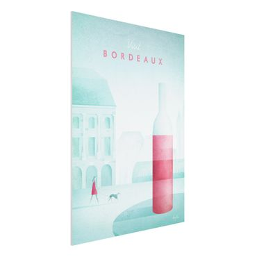 Forex Fine Art Print - Reiseposter - Bordeaux - Hochformat 4:3