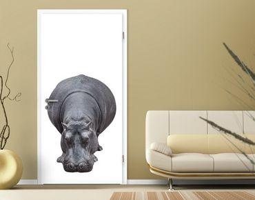 "Fototapete Tür - Papier No.43 ""BIG HIPPO"" 100x210cm"
