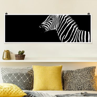 Poster - Zebra Safari Art - Panorama Querformat
