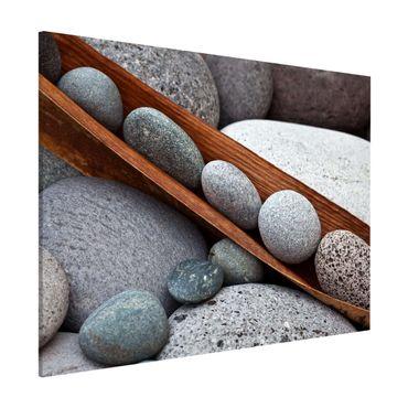 Magnettafel - Stillleben mit grauen Steinen - Memoboard Querformat 3:4