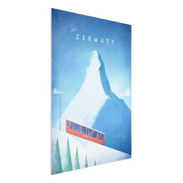 Forex Fine Art Print - Reiseposter - Zermatt - Hochformat 4:3