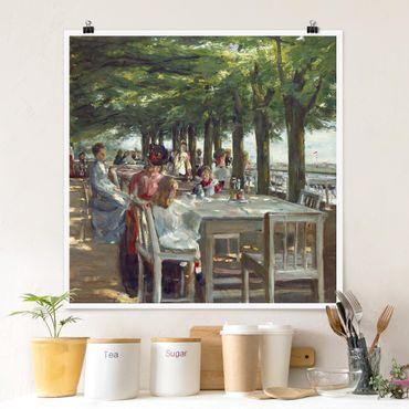 Poster - Max Liebermann - Terrasse des Restaurants Jacob - Quadrat 1:1