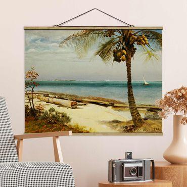Stoffbild mit Posterleisten - Albert Bierstadt - Küste in den Tropen - Querformat 4:3