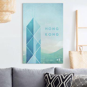 Leinwandbild - Reiseposter - Hong Kong - Hochformat 3:2