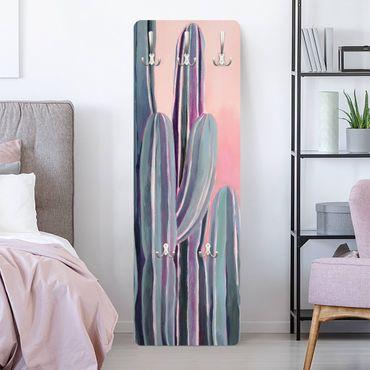Garderobe - Kaktus auf Rosa II