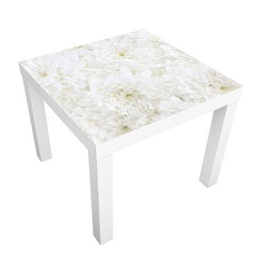 Beistelltisch - Dahlien Blumenmeer weiß