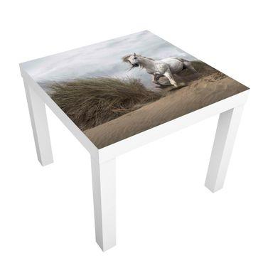 Beistelltisch - Weißes Pferd in den Dünen
