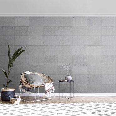 Metallic Tapete  - Beton Ziegeloptik grau