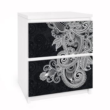 Möbelfolie für IKEA Malm Kommode - Selbstklebefolie Gothic Ornament