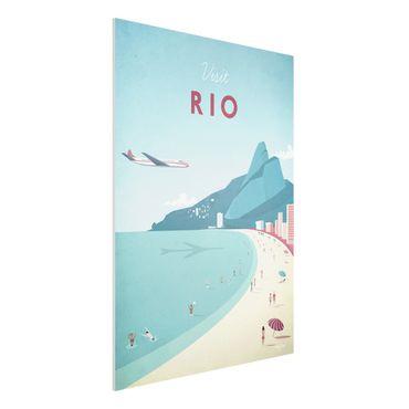 Forex Fine Art Print - Reiseposter - Rio de Janeiro - Hochformat 4:3