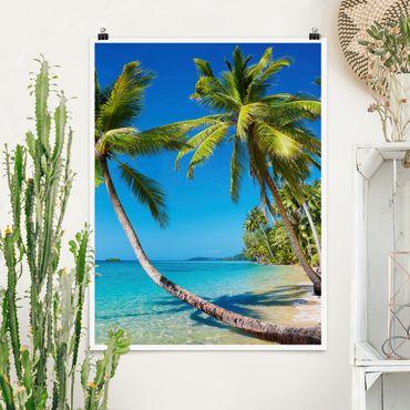 Poster - Beach of Thailand - Hochformat 3:4