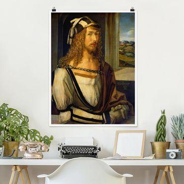 Poster - Albrecht Dürer - Selbstbildnis mit Landschaft - Hochformat 3:4