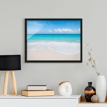 Bild mit Rahmen - Blaue Welle - Querformat