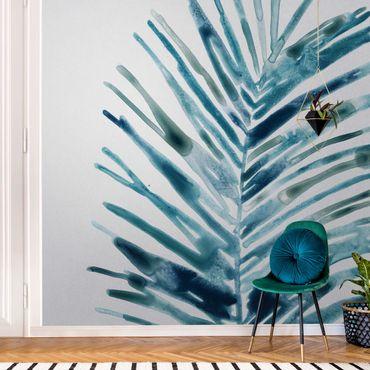 Metallic Tapete  - Blaues tropisches Juwel II