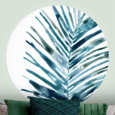 Runde Tapete selbstklebend - Blaues tropisches Juwel II