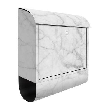 Briefkasten - Bianco Carrara - Briefkasten mit Zeitungsrolle