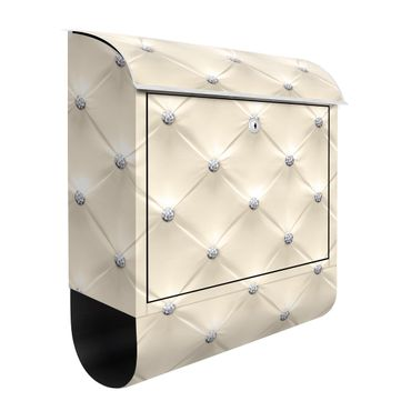 Briefkasten - Diamant Creme Luxus - Briefkasten mit Zeitungsrolle