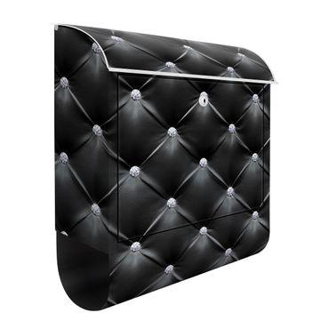 Briefkasten - Diamant Schwarz Luxus - Briefkasten mit Zeitungsrolle