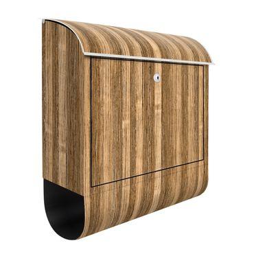 Briefkasten Holz - Amazakou Light - Holzoptik Wandbriefkasten Braun