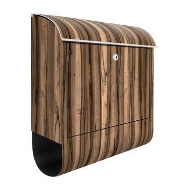 Briefkasten Holz - Arariba - Holzoptik Wandbriefkasten Braun
