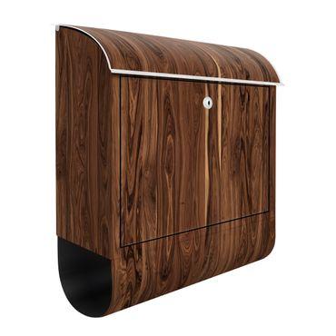 Briefkasten Holz - Santos Palisander - Holzoptik Wandbriefkasten