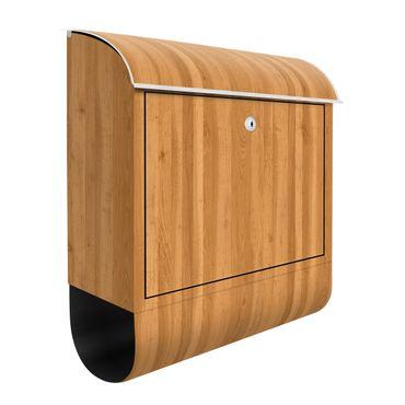 Briefkasten Holz - Zitrone - Holzoptik Wandbriefkasten Braun