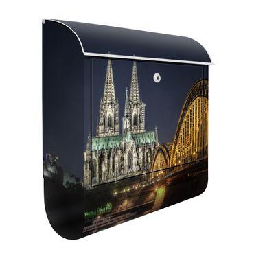 Briefkasten mit Zeitungsfach - Kölner Dom - Wandbriefkasten