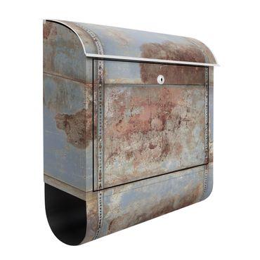 Briefkasten - Shabby Industrial Metalloptik - Briefkasten mit Zeitungsrolle