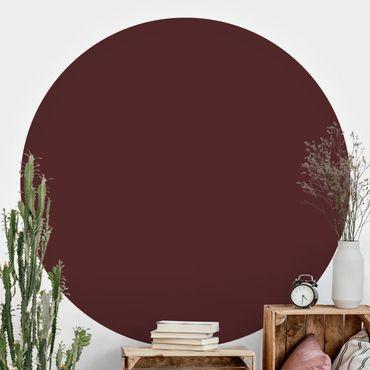 Runde Tapete selbstklebend - Burgund