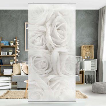 Raumteiler - Weiße Rosen 250x120cm