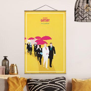 Stoffbild mit Posterleisten - Filmposter The great Gatsby II - Hochformat 3:2