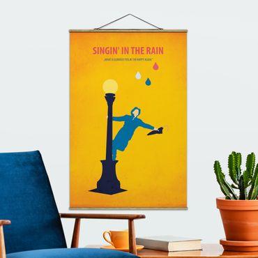 Stoffbild mit Posterleisten - Filmposter Singing in the rain - Hochformat 3:2