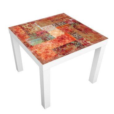 Möbelfolie für IKEA Lack - Klebefolie Schriftmuster