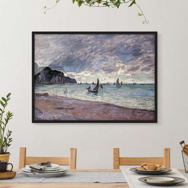Bild mit Rahmen - Claude Monet - Küste von Pourville - Querformat 3:4