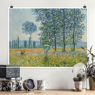 Poster - Claude Monet - Felder im Frühling - Querformat 3:4