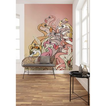 Disney Kindertapete - Flamingos and Lillys - Komar Fototapete