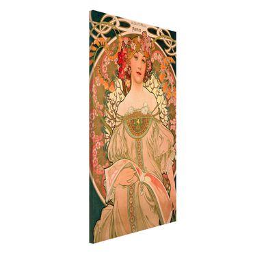 Magnettafel - Alfons Mucha - Plakat für F. Champenois - Memoboard Hochformat 4:3