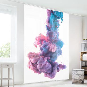 Schiebegardinen Set - Abstrakte flüssige Farbe - Flächenvorhänge