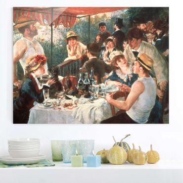 Glasbild - Auguste Renoir - Das Frühstück der Ruderer - Querformat 3:4
