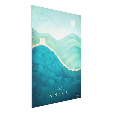 Forex Fine Art Print - Reiseposter - China - Hochformat 4:3