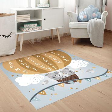 Vinyl-Teppich - Spielteppich ABC - Lernen wie im Flug - Quadrat 1:1