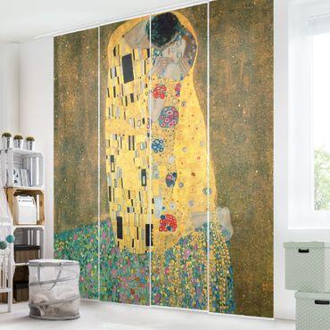 Schiebegardinen Set - Gustav Klimt - Der Kuß - 4 Flächenvorhänge