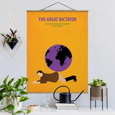 Stoffbild mit Posterleisten - Filmposter The great dictator - Hochformat 4:3