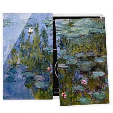 Herdabdeckplatte Glas - Claude Monet - Seerosen (Nympheas) - 52x80cm